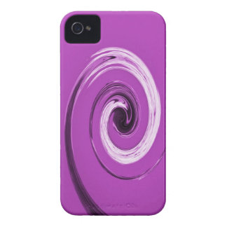 Púrpura del giro de Nelson Case-Mate iPhone 4 Protector