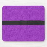 Púrpura del Grunge con el arco Tapetes De Raton