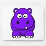 Púrpura del hipopótamo tapetes de raton