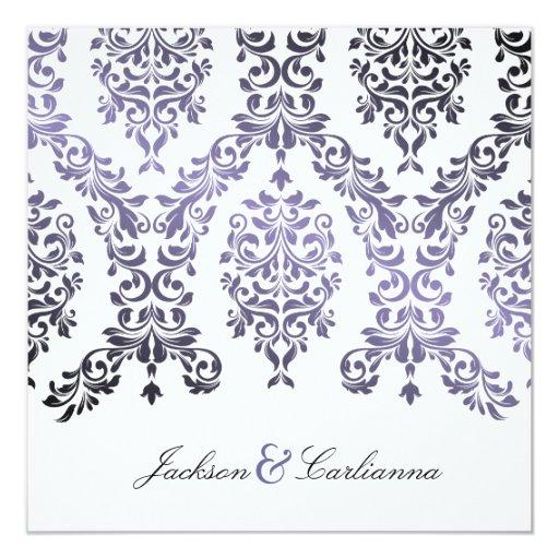 """púrpura del Hydrangea del damasco 311-Dashing Invitación 5.25"""" X 5.25"""""""