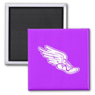Púrpura del imán del logotipo de la pista