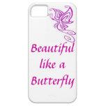 Púrpura del iphone 5/5s de la mariposa iPhone 5 protectores
