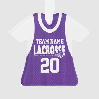 Púrpura del jersey de los deportes de LaCrosse con