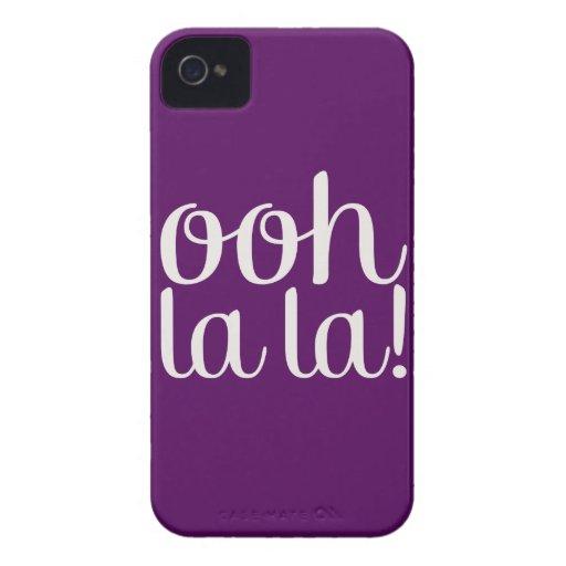 Púrpura del La del La de Ooh Carcasa Para iPhone 4