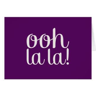 Púrpura del La del La de Ooh Tarjeta De Felicitación
