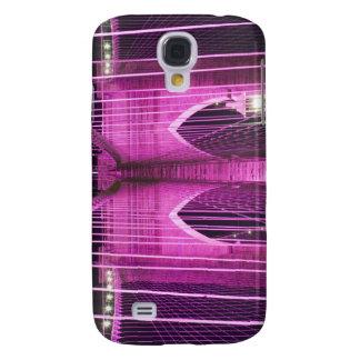 Púrpura del Lit del puente de Brooklyn Funda Para Galaxy S4
