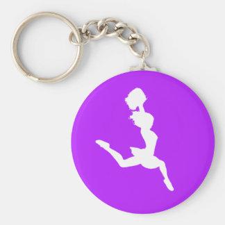 Púrpura del llavero de la silueta de la alegría