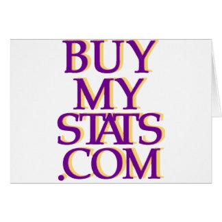 púrpura del logotipo de BuyMyStats.com 3D con la s Tarjeta De Felicitación