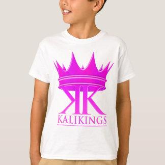 Púrpura del logotipo de la corona de los reyes de playera