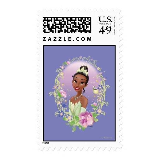 Púrpura del marco de la flor de Tiana Sello
