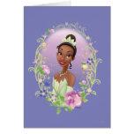 Púrpura del marco de la flor de Tiana Tarjetas