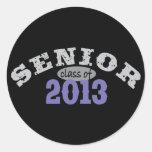 Púrpura del mayor 2013 etiquetas redondas