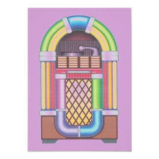 Púrpura del MED de la máquina tocadiscos de la Invitación 11,4 X 15,8 Cm