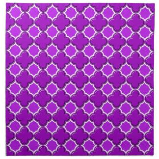 Púrpura del modelo 2 del trébol servilleta de papel
