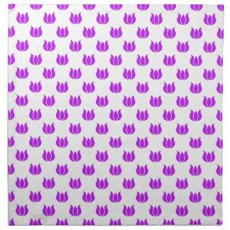 Púrpura del modelo de la flor 5 servilleta de papel