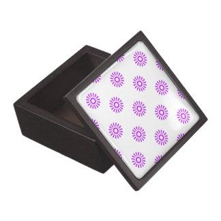 Púrpura del modelo de la flor 6 cajas de joyas de calidad