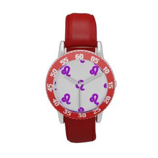 Púrpura del modelo de Leo Relojes De Mano