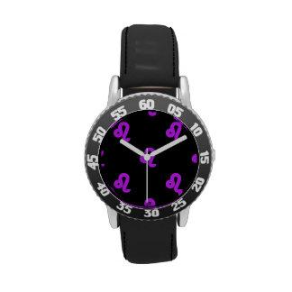 Púrpura del modelo de Leo Relojes De Pulsera