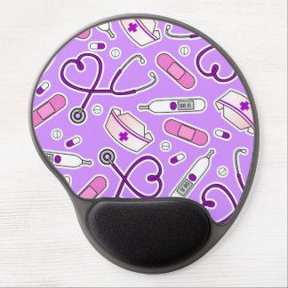 Púrpura del modelo del amor de la enfermera alfombrilla gel
