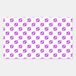 Púrpura del modelo del cáncer pegatina rectangular