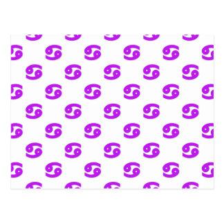 Púrpura del modelo del cáncer tarjetas postales