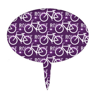 Púrpura del modelo del ciclista de la bici de Fixi Decoraciones Para Tartas