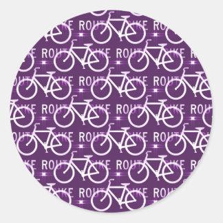 Púrpura del modelo del ciclista de la bici de Fixi Pegatinas