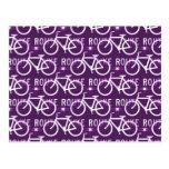 Púrpura del modelo del ciclista de la bici de Fixi Postales