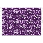 Púrpura del modelo del ciclista de la bici de tarjeton