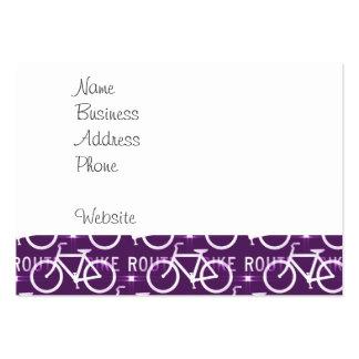 Púrpura del modelo del ciclista de la bici de tarjetas de visita grandes