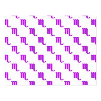 Púrpura del modelo del escorpión tarjetas postales