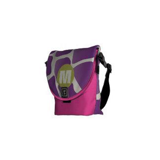 Púrpura del monograma y modelo de la jirafa de la bolsa de mensajeria