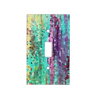 Púrpura del mosaico y interruptor de la luz decora