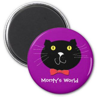 Púrpura del mundo de Monty Imán Para Frigorífico