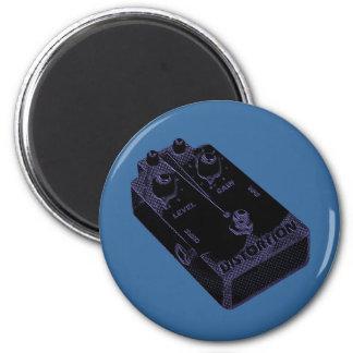 Púrpura del negro del pedal de la distorsión de la imán redondo 5 cm