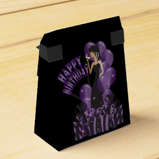 Púrpura del nombre el   del chica el   DIY de la Caja Para Regalos