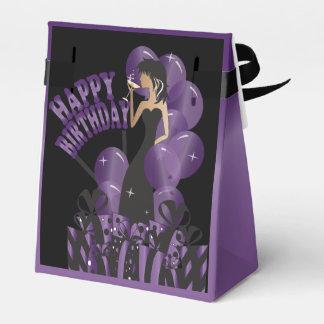 Púrpura del nombre el   del chica el   DIY de la Cajas Para Regalos