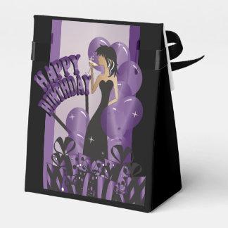 Púrpura del nombre el   del chica el   DIY de la Cajas Para Regalos De Fiestas