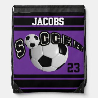 Púrpura del nombre y del número el | del jersey el mochilas