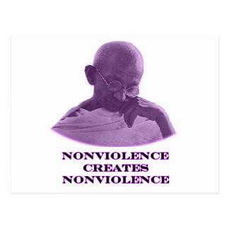 Púrpura del Nonviolence los regalos de Zazzle del Postales
