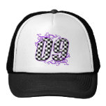 púrpura del número 09 el competir con auto gorras de camionero