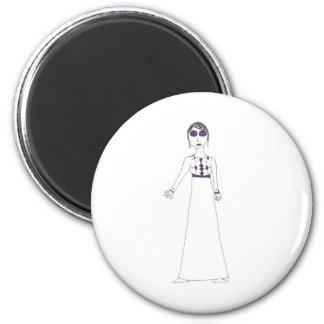 Púrpura del ojo del botón de Jane Austen Imán Redondo 5 Cm
