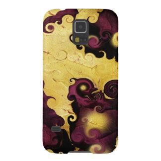 Púrpura del otoño y caja abstracta de la galaxia d funda para galaxy s5