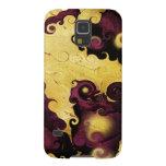 Púrpura del otoño y caja abstracta de la galaxia funda para galaxy s5