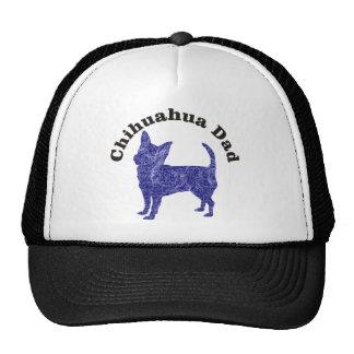 Púrpura del papá de la chihuahua gorra