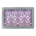 Púrpura del papel pintado del vintage hebilla cinturon rectangular