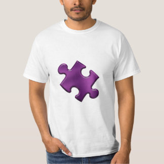 Púrpura del pedazo del rompecabezas del autismo playera