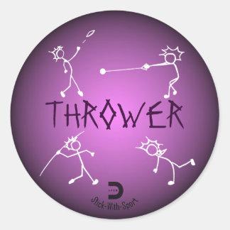 Púrpura del pegatina del lanzador