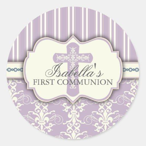 Púrpura del pegatina el | de la comunión del