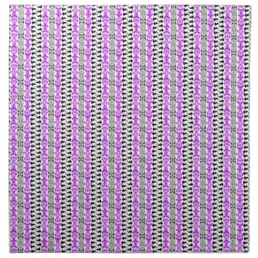 Púrpura del personalizado 1 de Fleur Servilletas